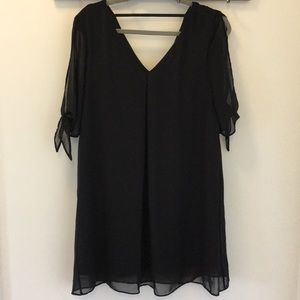 Black loose fitted cocktail dress